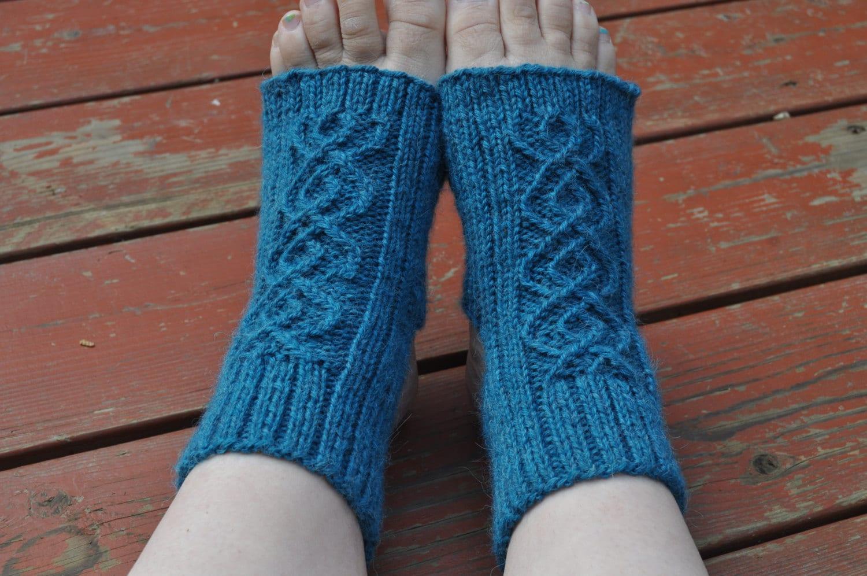 Yoga socks knitting pattern Breathe Double by LittleWoollyThings