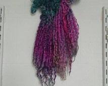 Wanton Gypsy - extra long Teeswater locks - spin knit felt and dolls hair supply - Waldorf, blythe, dollfie, monster high, Bjd reroot wig