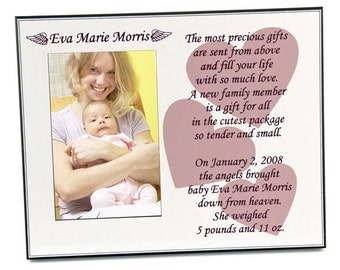 Customized Stars and Angels Photo Frame for Baby