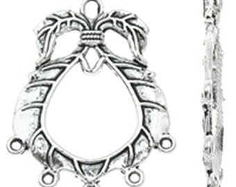 4pc antique silver finish metal chandelier components-4802C