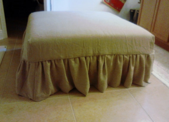 Ottoman Slipcover: Waterfall Style Under 4 sq ft