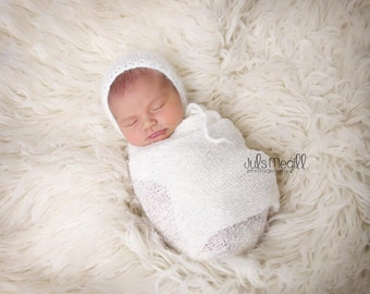 White RTS Stretchy Soft Newborn Knit Wraps 80 colors to choose from, photography prop newborn prop wrap