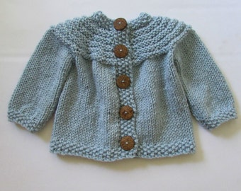 PATTERN ONLY for Child's Top Down Cardigan