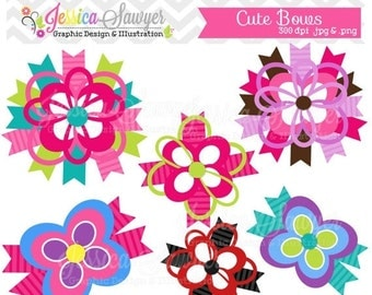 80% OFF - INSTANT DOWNLOAD, cute bow clipart, for commerical and personal use
