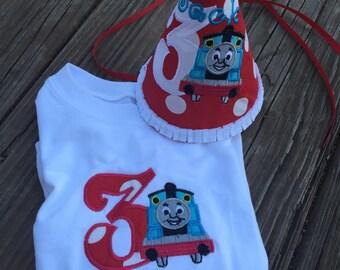 Thomas the Train birthday shirt and hat