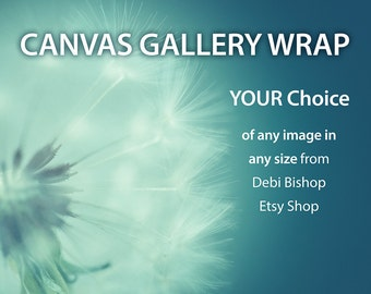Canvas Gallery Wrap -Home Decor Wall Art -Fine Art Nature Photo -Choose Any Image From My Etsy Shop