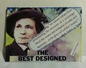 sale aceo BEST DESIGNED original kimartist abstract creation creationism collage face genesis man modern brown purple blue green black white