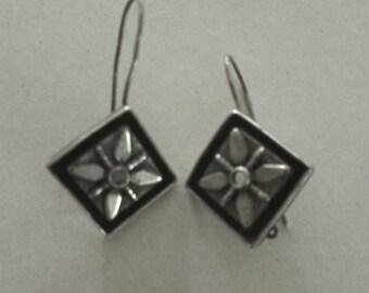 Vintage Silver Israeli Earrings