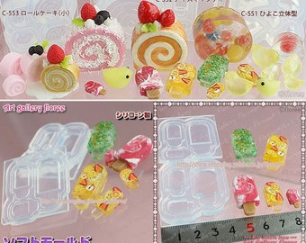 SALE Popsicles ice cream flexible 3 dimensional mold for resin and clay in 3 different size