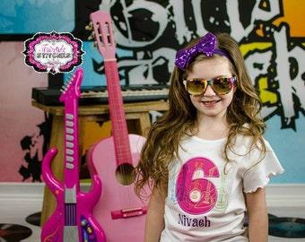 Guitar Shirt, Guitar Birthday, Music Birthday, Rock Birthday, Girl Birthday Shirt, Birthday Shirt, Rock and Roll Birthday