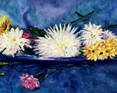 "Fine Art, Original Oil Painting, Floral Painting 8 X 16 ""A Platter of Spring"""