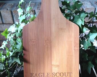 Eagle Scout Grandma cutting board