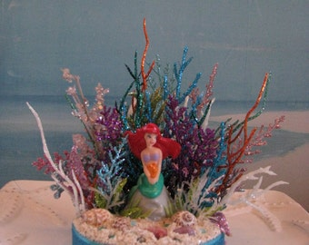 Little Mermaid Cake Topper~Cake Topper~Coral Reef Cake Topper~Under the Sea Cake Topper