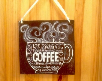 I Love Coffee! hanging art