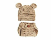 Oatmeal Fleck diaper cover and leg warmer set *Hat Not included*