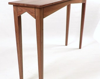 Solid Walnut Console Hall Sofa Table Handcrafted in USA Can be Customized
