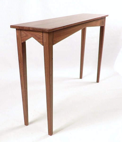Foyer Table Name : Solid walnut console hall sofa table handcrafted in usa can be