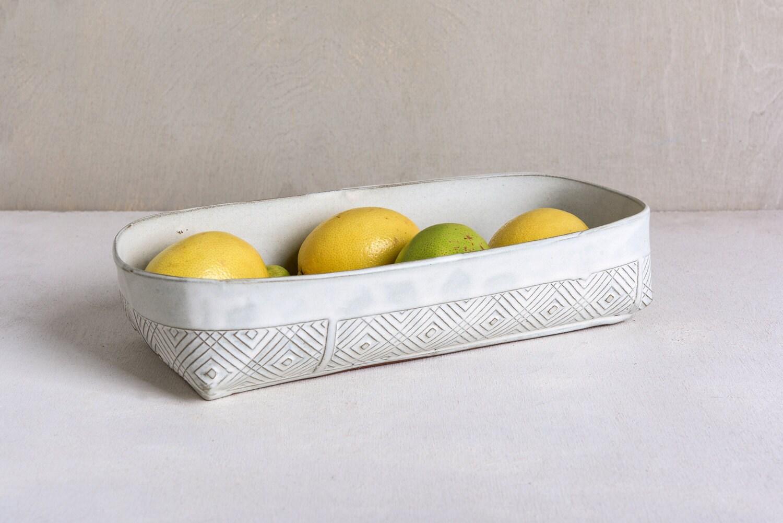 Ceramic Stoneware Baking : Ceramic baking dish white kitchen bakeware lasagna