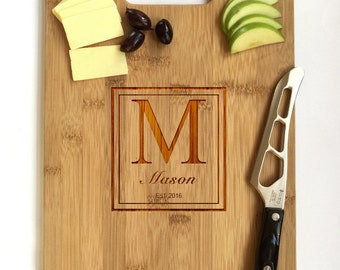 Personalized Cutting Board Wedding Gift, Monogram Cutting Board, Custom Cutting Board Wedding, Realtor Closing Gifts