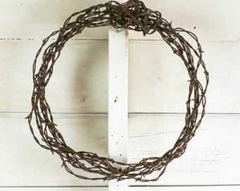Rustic Barbed Wire Wreath - One of a Kind