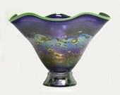 Fluted Purple Monet Bowl