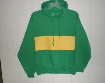 Undertale shirt, green hooded sweatshirt with yellow stripe,  cosplay, Chara hoodie, costume, unisex adult small, medium, large or x large