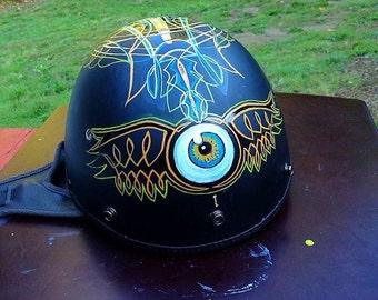 Custom Motorcycle Helmet Art - Painted, Pinstriped, Hand Lettered - Kustom Kulture