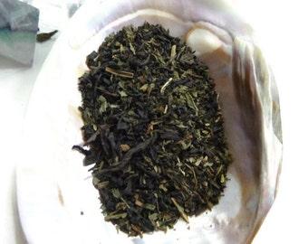 Tea Sample - UnSeelie -  black loose leaf tea - Russian Caravan and Peppermint