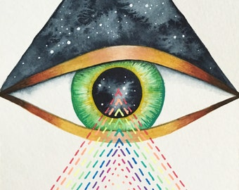 "Original Illustration, ""Cosmic Vision"""