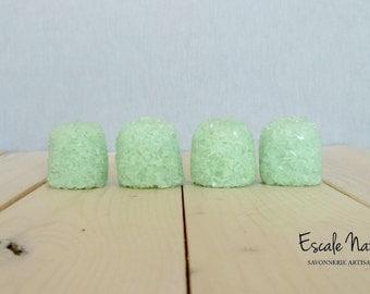 Eucalyptus bath truffle, with shea butter and cacao butter, handmade, moisturizing.