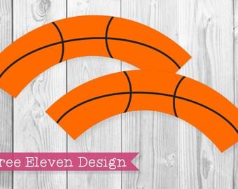 Basketball PRINTABLE Cupcake Wrappers