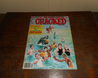 November 1978 Cracked Magazine with POSTCARDS  Star Wars Rocky Grease Steve Martin Cover
