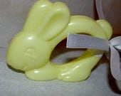 Vintage Bunny Baby Rattle with a Soft Rattle Sound