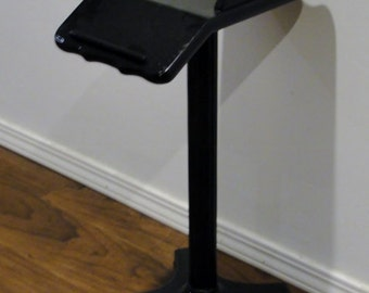Black Telephone/Cellphone Stand with Front Tray
