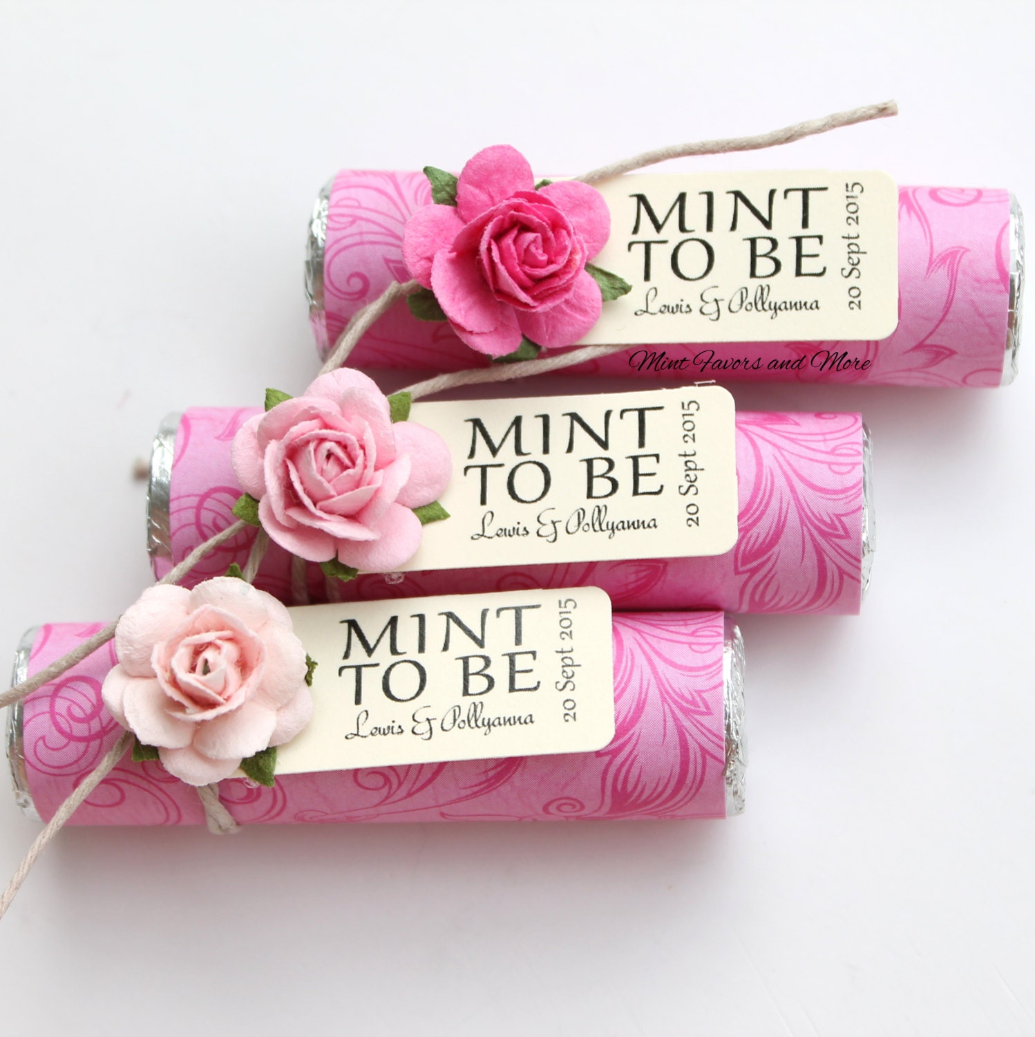 Mints Wedding Favors Wedding Invitations With Recycled Paper