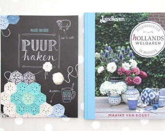 Puur Haken and Hollands Welgaren crochet and knitting books