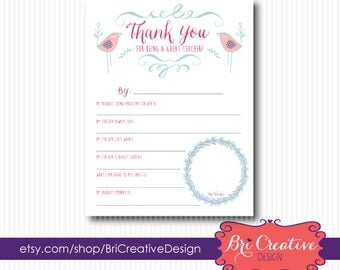 Thank You for being a Great Teacher Printable