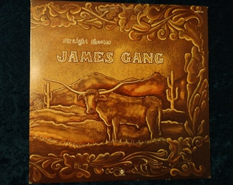 SALE Vintage 1972 James Gang Straight Shooter Vinyl Record Album Classic Rock