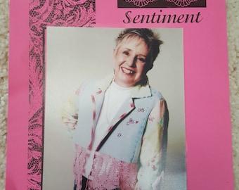 Assembled Sentiment Jacket by VickiTricks Design