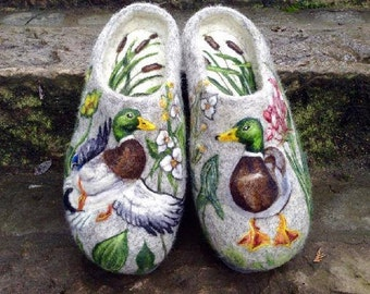 Felted Slippers - Drakes MADE TO ORDER