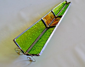 Stained Glass Incense Burner Incense Stick Holder Incense Sled Yoga Gift for Man Smoker Gift