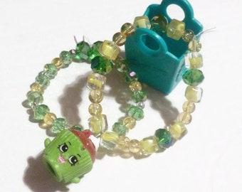 Season 2 Shopkins Charm Bracelet, Cupcake Chic #2-043, Shopkins, Charm Bracelets, Dress up jewelry, shopkins jewelry, kawaii gifts, gift