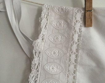 French Antic bloomer cotton lace and embroidery