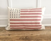 Distressed American Flag Pillow Cover (Color)