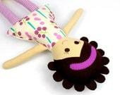 ethnic rag doll for girl | handmade rag doll | camille cloth doll | first doll | keepsake rag doll
