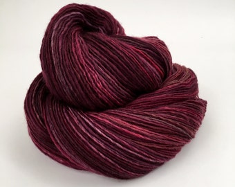 Merlot Handspun Single Ply Polwarth Yarn