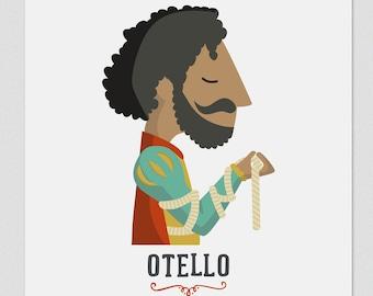 Illustration. Otello. Print. Wall art. Art decor. Hanging wall. Printed art. Decor home. Gift idea. Sweet home. singer