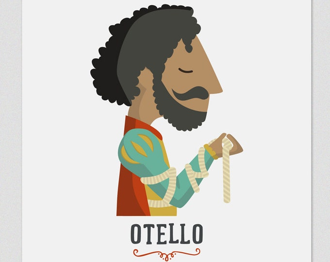 Illustration. Otello. Print. Wall art. Art decor. Hanging wall. Printed art. Decor home. Gift idea. Sweet home. singer