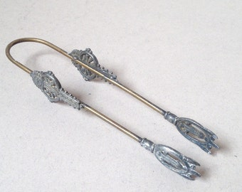 Vintage Brass Tongs, Ornate Metal Tongs, Sugar Tongs, Ice Tongs, Large Tongs
