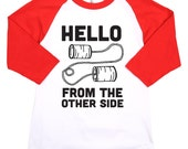 Funny Baby Shirts. Adele Hello From the Other Side Baby Tee. Hipster Baby. Kids Tees. Cute Baby Clothes
